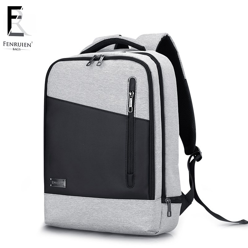 цена на FRN USB Charging Men 15 inch Laptop Backpack Waterproof School Bagpack Mochila Masculina Casual Travel Backpack Anti theft Male