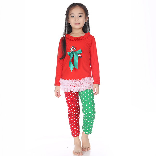 new 2015 christmas clothes girls xmas Outfit girl boutique ruffle ...