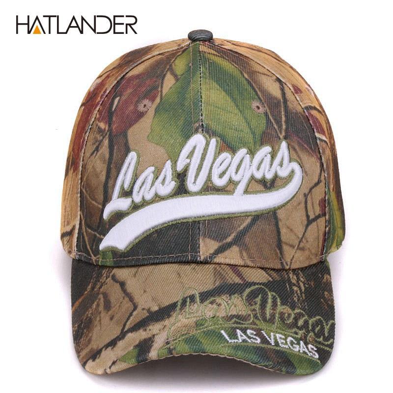 a914e7f983840 Las Vegas leaf camouflage baseball caps summer fishing hats gorras ...