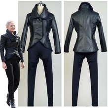Custom Made Once Upon A Time Princess Emma Swan Black Dark Suit Dress Cosplay Costume Halloween