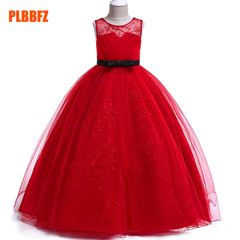 Children's party   dress     flower     girl     dresses   for wedding first communion princess mesh   dress   baby tutu costume clothing LP-219