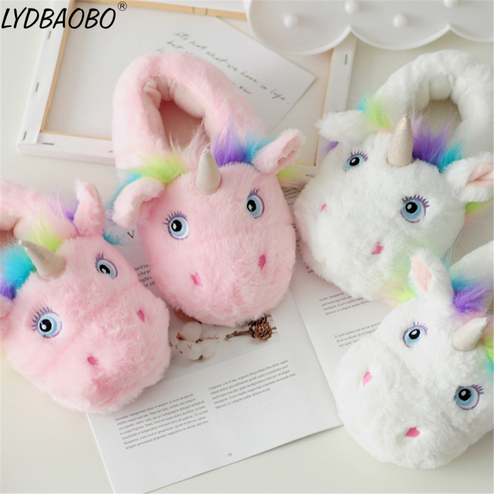 New Kawaii Unicorn Accessories Stuffed Plush Toy Kids Cute Soft Animal Horse Cotton Slippers Ornament Doll Girl's Birthday Gift largest size 95cm panda plush toy cute expression panda doll birthday gift w9698