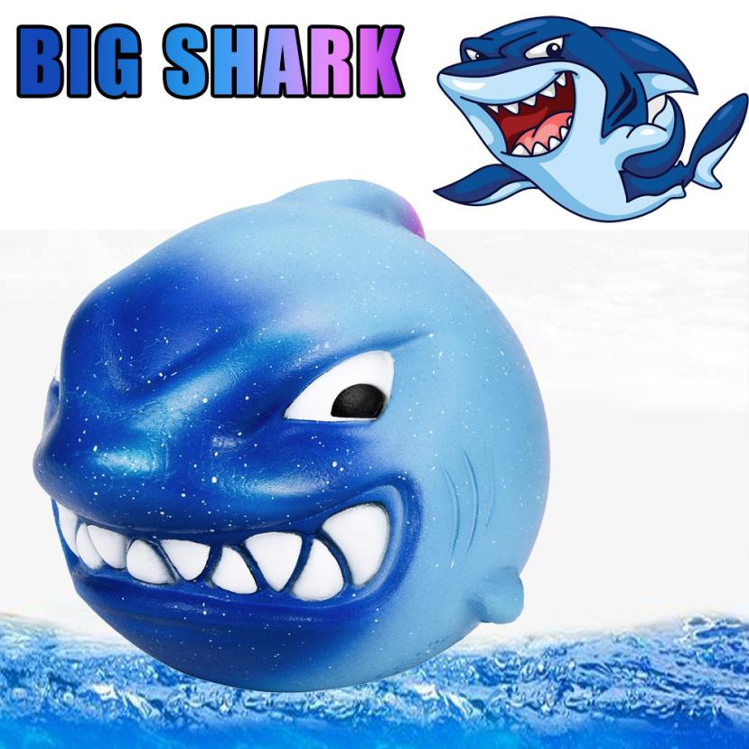 12CM Squishy Big Shark Cream Scented Slow Rising Squeeze Toys Collection Charm Cute PU Galaxy Cute Gift Toys Stress Relief