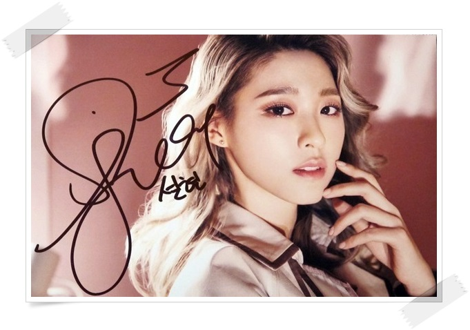 AOA  Kim Seol Hyun autographed signed original photo ANGEL`S KNOCK  4*6 inches  new korean  freeshipping 022017 A bap b a p jung daehyun dae hyun autographed signed photo 6 photos set 4 6 inches korean freeshipping 2016 a