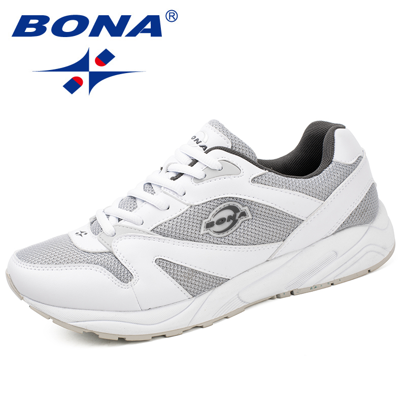 BONA New Classics Style Men Running Shoes Lace Up Men Sport Shoes Outdoor Jogging Sneakers Comfortable Light Soft Free Shipping bona new classics style men running shoes mesh men athletic shoes lace up men outdoor sneakers shoes light soft free shipping
