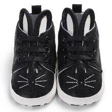 Обувь для новорожденных; обувь из искусственной кожи для маленьких мальчиков и девочек; модные лоферы с кроликом на мягкой подошве; кроссовки; 0-18 месяцев