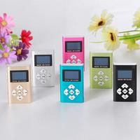 overmal Slick stylish design USB Mini   MP3     Player   LCD Screen Support 8GB Micro SD TF Card Music Equalizer best Christmas gift