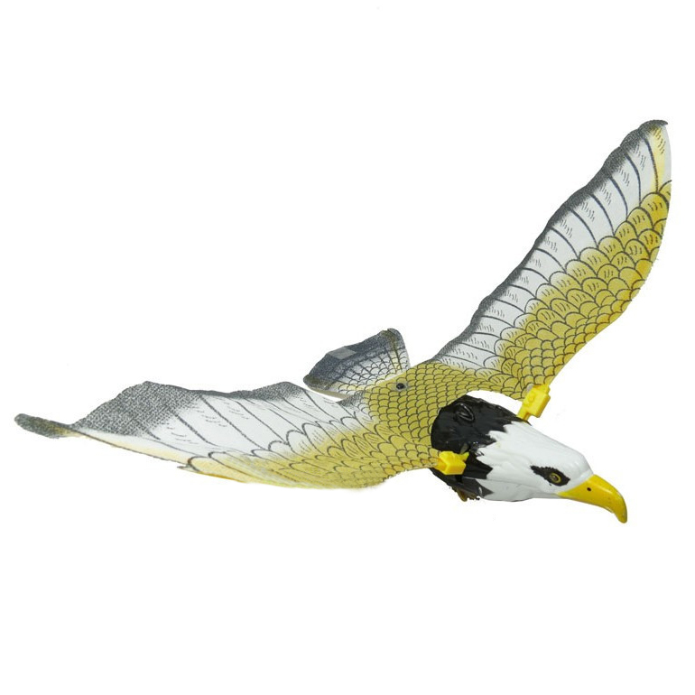 Children Black Electrical Flying Light Sound Eagle Toy