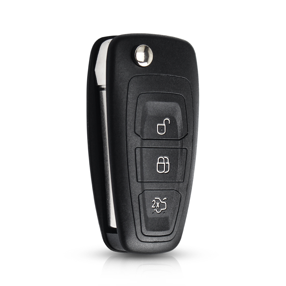 3 Buttons Remote Flip Folding Key Shell Case For Ford Mondeo Festiva Fusion KA