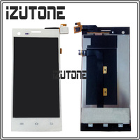 100% warranty white LCD Screen Display with Touch Screen Digitizer Assembly For THL T11 By Free Shipping