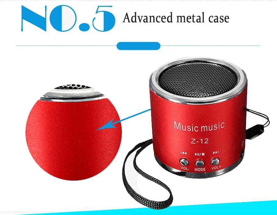 Wireless Speaker Support TF Card FM Radio 3.5mm Portable Speakers Mp3 Player Outdoor Mini Column Box