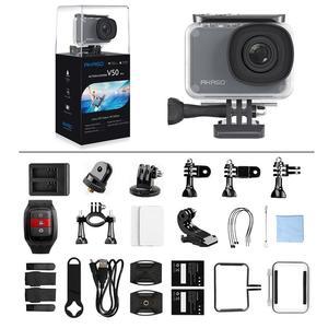 Image 4 - AKASO V50 برو الأصلي 4K/30fps 20MP واي فاي عمل الكاميرا EIS شاشة تعمل باللمس 30 متر مقاوم للماء 4k كاميرا رياضية دعم الخارجية مايكرو