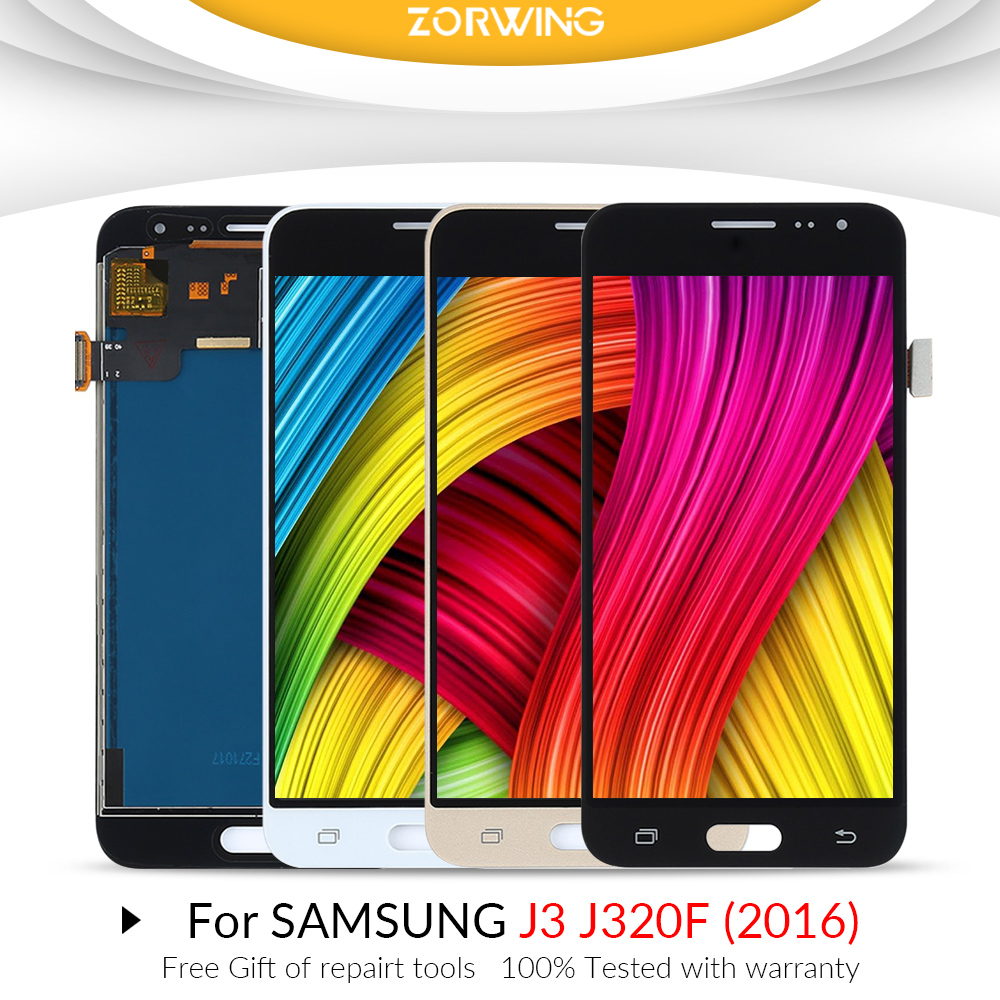 J320F <font><b>LCD</b></font> Display Für Samsung J3 2016 <font><b>J320</b></font> J320F <font><b>LCD</b></font> <font><b>Touch</b></font> Screen Digitizer Für Samsung Galaxy j3 2016 Display J320F <font><b>j320</b></font> J320FN image