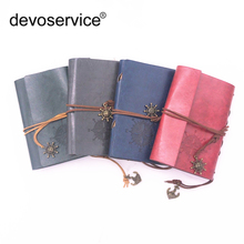 hot deal buy free shippinf vintage style leather cover notebook dairy bank string nautical feida notebook office school supplies