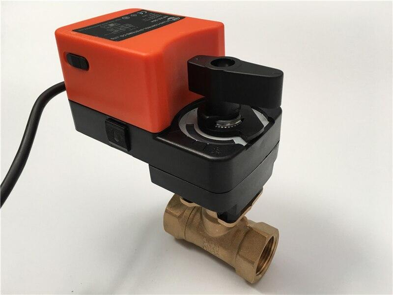 1 1/4 ''Электрический proprotion клапан 2 Way Латунь, AC/DC24V клапан регулирования 4 20mA или 0 10 В регулирования для управления потоком жидкости