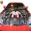 5 teile/satz Carbon Fiber Innen der Haube Teile Für Ferrari F12 Carbon Haube Carbon Öl abdeckung Großhandel Heißer auto Teile 2018