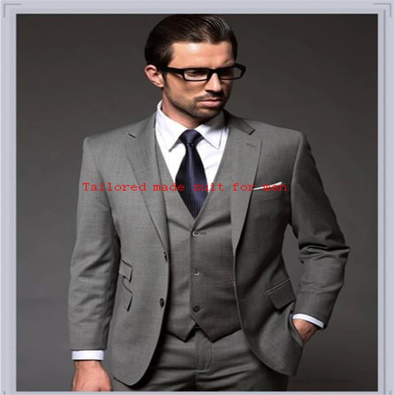 New Arrival Smoke Wedding Suits Tuxedo Prom Light Grey Styles
