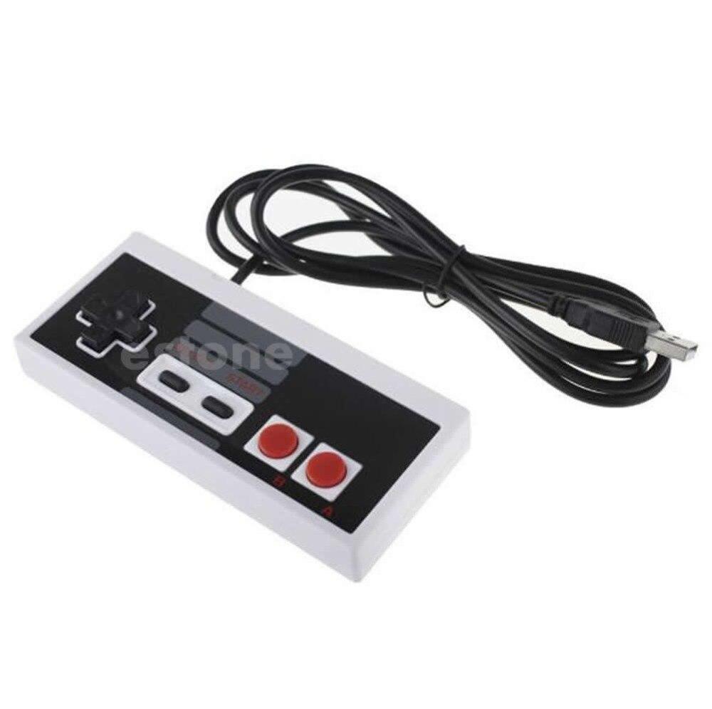 Gamepads Usb Gaming Controller Plug-play Plastic Black+gray For Nes Pc Windows New Yet Not Vulgar