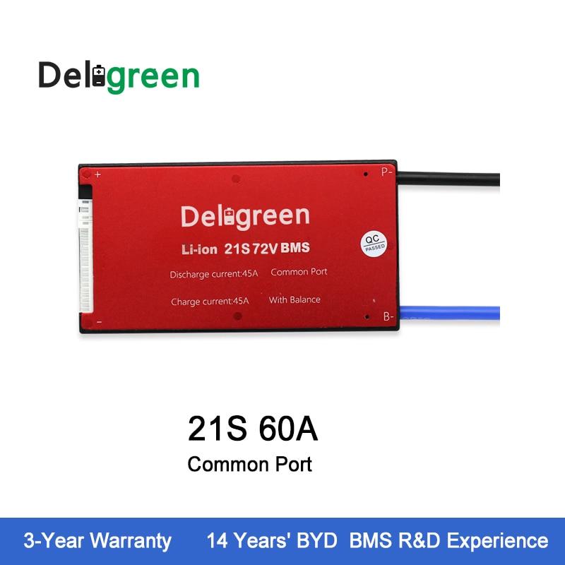 Deligreen 21 s 60A 72 v PCM/PCB/BMS pour la batterie au lithium pack 18650 Li-Po LiNCM batterie Pack