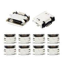 10 pces micro usb mk5p 5pin fêmea conector micro usb tomada de carregamento em linha reta-