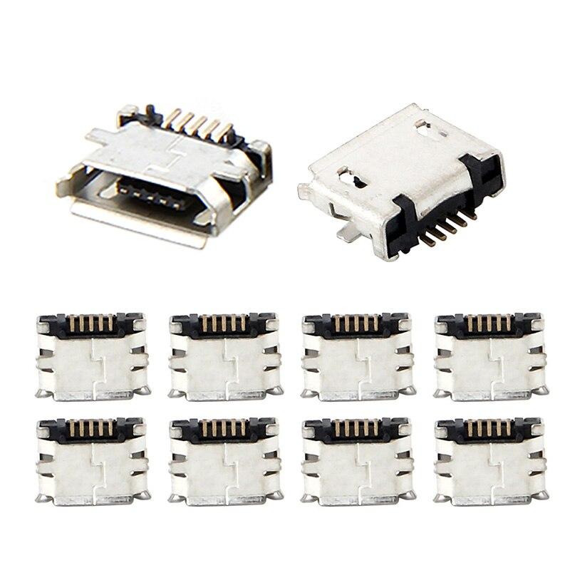 10 pièces Micro USB MK5P 5pin connecteur femelle Micro USB prise de charge droite-