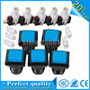 Square Arcade Push Button Switch Set of 5 (blue/Black) Leds button LED light console12 vled large game machine accessories