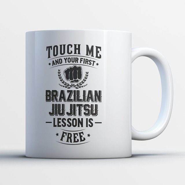 office cups. Brazilian Jiu Jitsu Mug Funny Office Cups Mugs Tea Mugen Home Decal Milk Cup Wine
