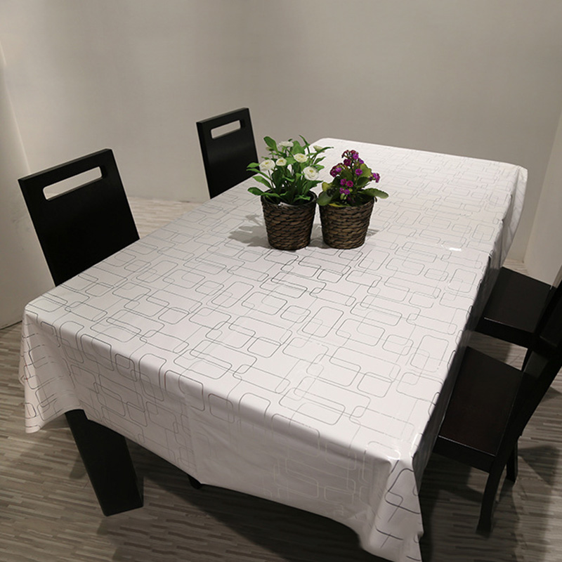 Popular Home Tablecloth Geometric Dining Room Table Cloth Tea Waterproof Cover Hotel 3 Size