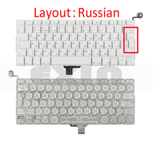 """Image 5 - New A1342 Keyboard US USA English UK French Russian Keyboards for Apple Macbook 13"""" inch Unibody White A1342 US Keyboard Year"""