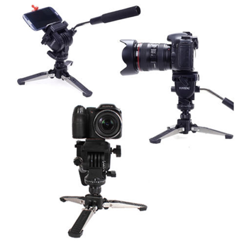 Professional C288 Monopod + Fluid Pan Head Ball + DV Unipod Mobile Phone Clip Holder For Canon Nikon DSLR Camera VCT 288-in Tripods from Consumer Electronics    2