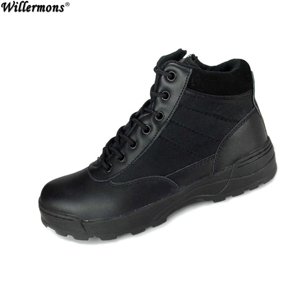 Sommar Militär Mäns Outdoor Breathable Tactical Combat Boots Skor Män Örnen Army Korta Stövlar Botas Hombre Zapatos Masculino