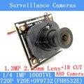 1000TVL 4in1 AHD Камеры Модуль 720 P 1.0MP CCTV Материнская Плата V20E + OV9732 (FH8532E) 1.3MP 2.35 мм широкоугольный объектив + Ик-камеры
