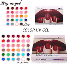 Lily angel 24color&36 colors set Gel Paint Nail Art Set Colorful painting High Quality UV Polish