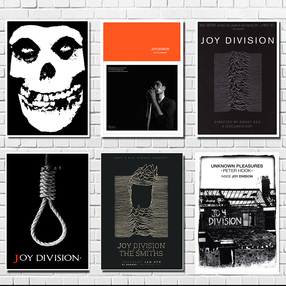 Joy Division Poster Clear Image Wall Stickers Home Decoration Good Quality Prints White Kraft Paper Home Art Brand