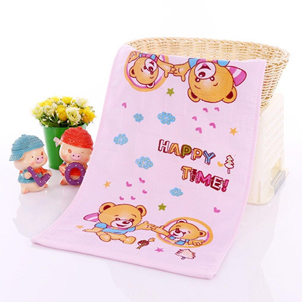 25*50cm Double Layers Gauze Towel Floral Print Pattern Pure Cotton Towel  Breathable Random