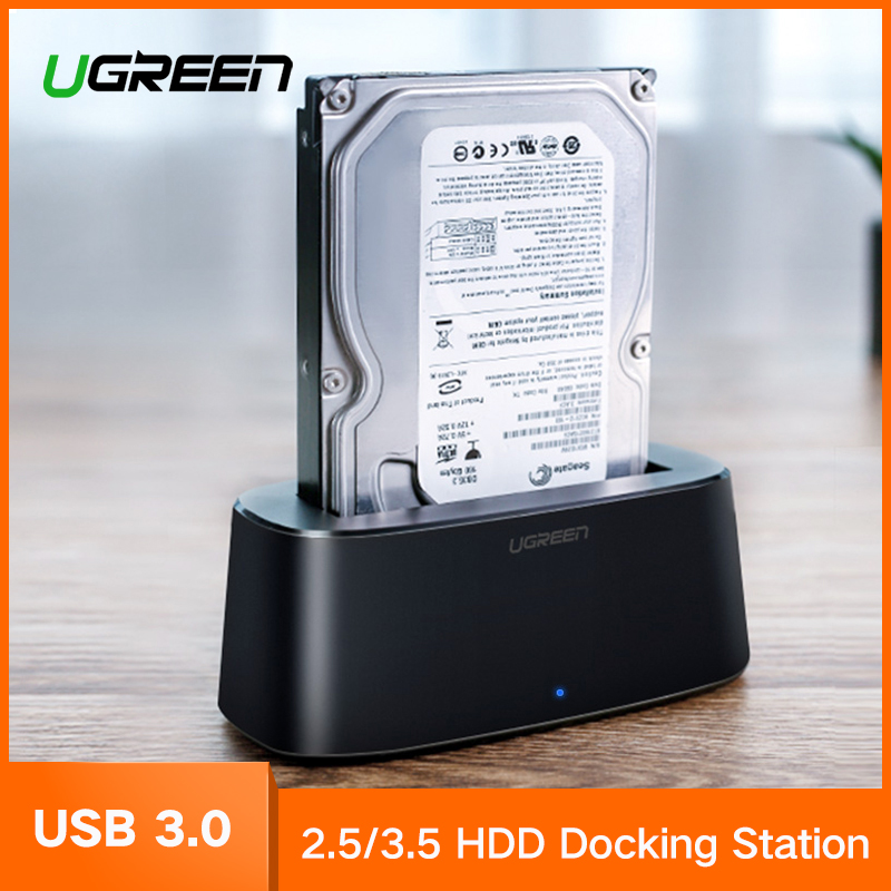 Ugreen HDD Docking Station SATA to USB 3.0 Adapter for 2.5 3.5 HDD SSD External Hard Drive Disk Case Box Enclosure SSD Adapter ugreen hdd enclosure sata to usb 3 0 hdd case tool free for 7 9 5mm 2 5 inch sata ssd up to 6tb hard disk box external hdd case
