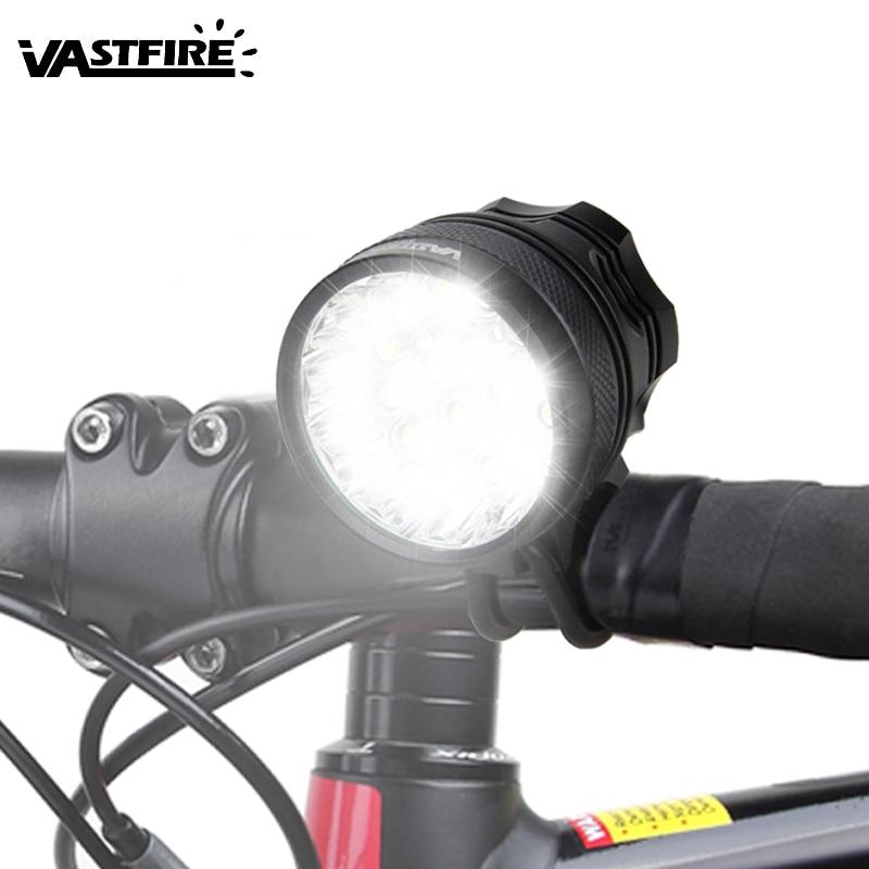სუპერ ძლიერი 20000lm 16x XML T6 LED ველოსიპედის მსუბუქი წამყვანი ველოსიპედით წინა ნათურა ველოსიპედით შუქნიშანი აქსესუარები + 8.4V 12000mAh ბატარეა + დამტენი