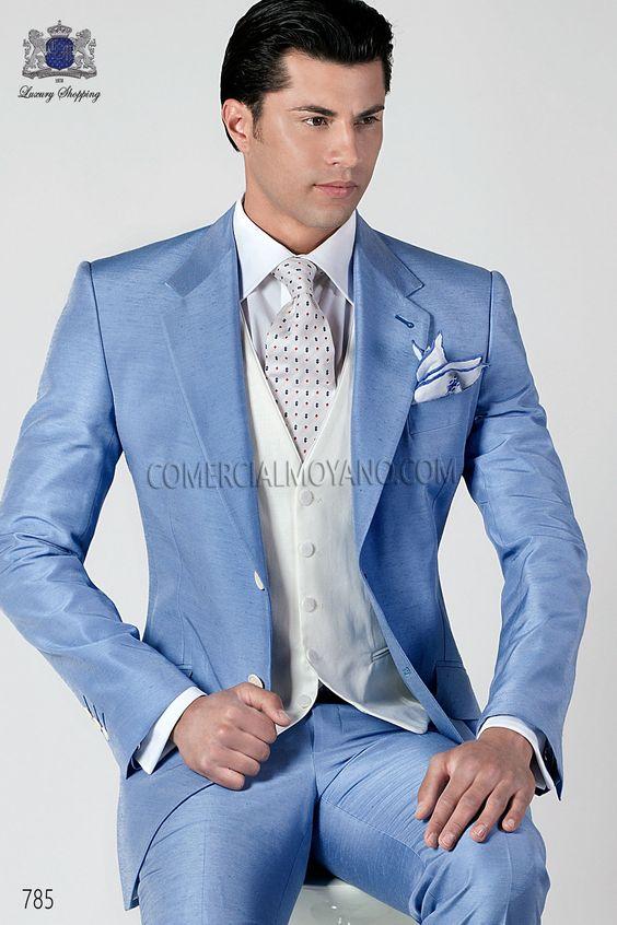 Latest Coat Pant Designs Italian Light Blue font b Men b font font b Suits b