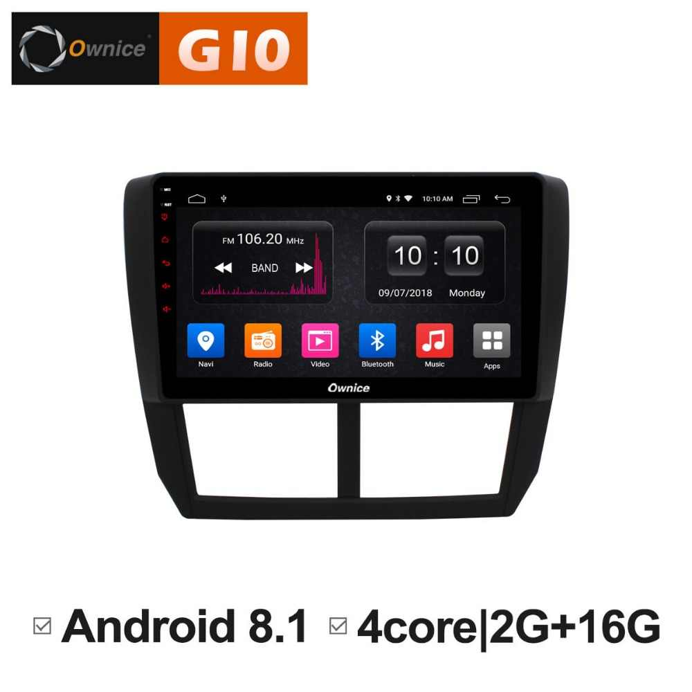 1024*600 Android 8.1 Quad Core 2GB RAM+16GB ROM 9 inch Car DVD Player For Subaru Forester 2008-2012  GPS Navi Radio Stereo BT