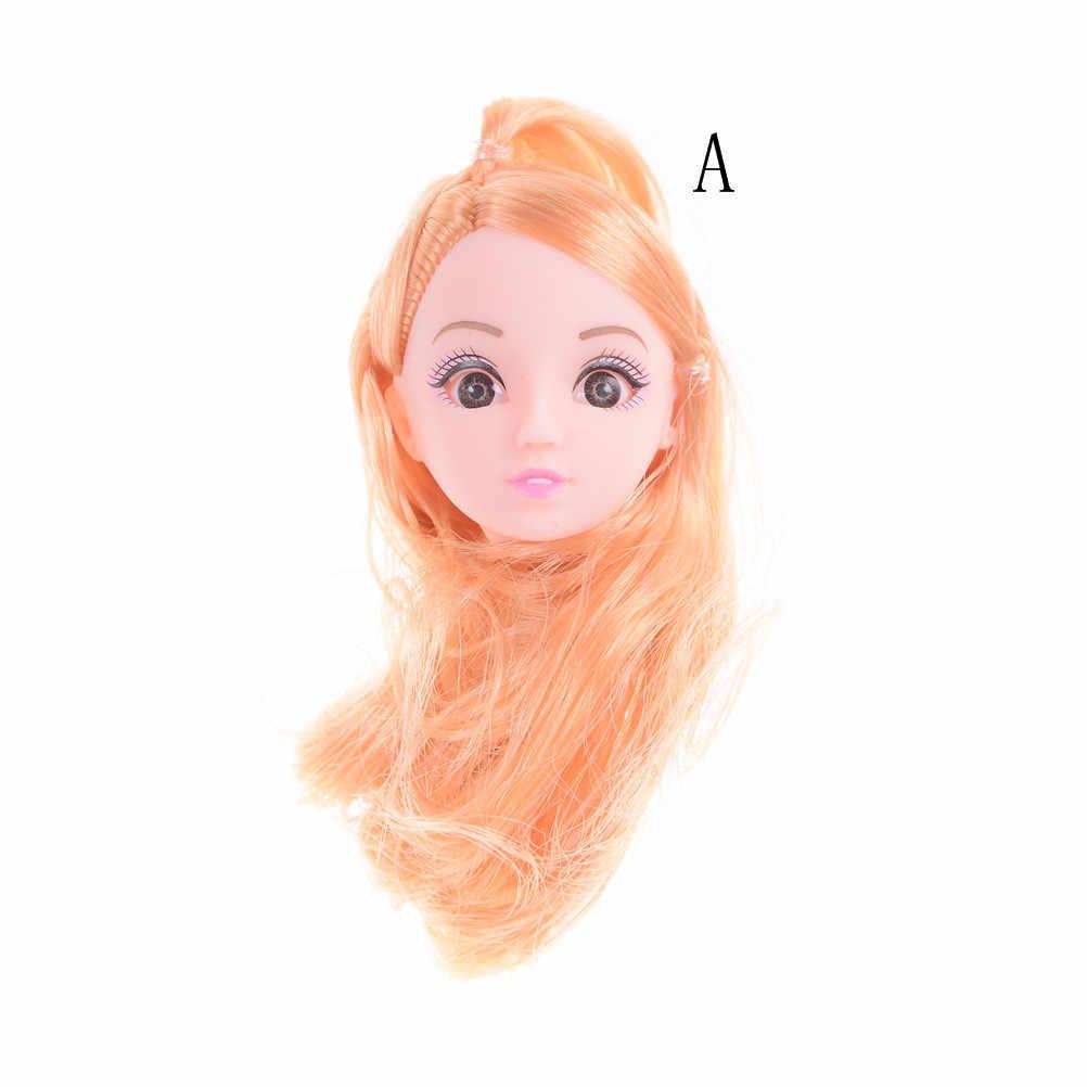 Новинка 1 шт. кукла голова с льняной Длинные Короткие волосы DIY аксессуары для девочек кукла детские игрушки