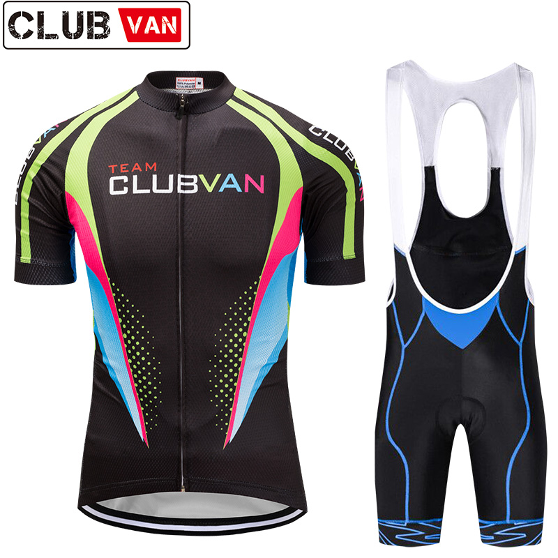 clubvan Cycling Set Mountain Bike Clothing Racing Bicycle Clothes Uniforms Maillot Ropa Ciclismo Breathable Cycling Jersey#A9 siilenyond farfax summer cycling clothing mountain bike jersey ropa ciclista hombre maillot ciclismo racing bicycle clothes set