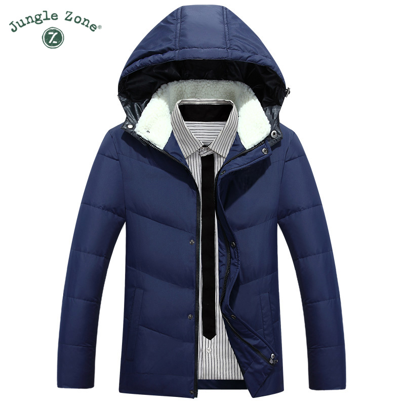 Winter Men's Hooded down jacket White Duck Down Jacket Men's Thick Coats down jacket mens Coats men's Parkas warm down jackets mens winter down jackets coats piumino peuterey wool collar double breasted jacket lapel pocket vertical multi pocket jacket