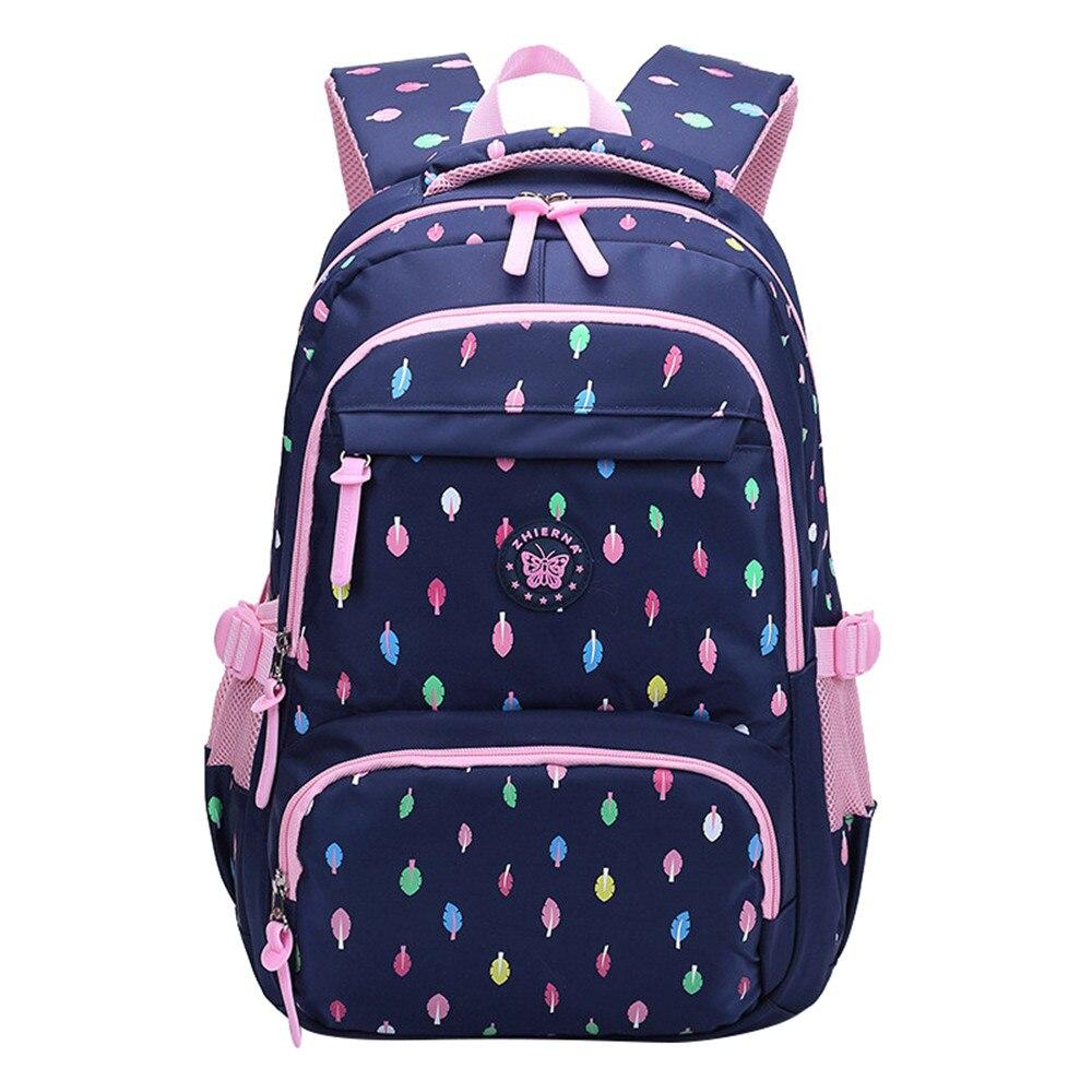 ca72d32927e5e Okul gençler için çanta Kız Schoolbag Büyük Kapasiteli Bayan Baskı Sırt  Çantası Sırt Çantası Bagpack Çocuklar Kitap Çanta Rahat Mochilas