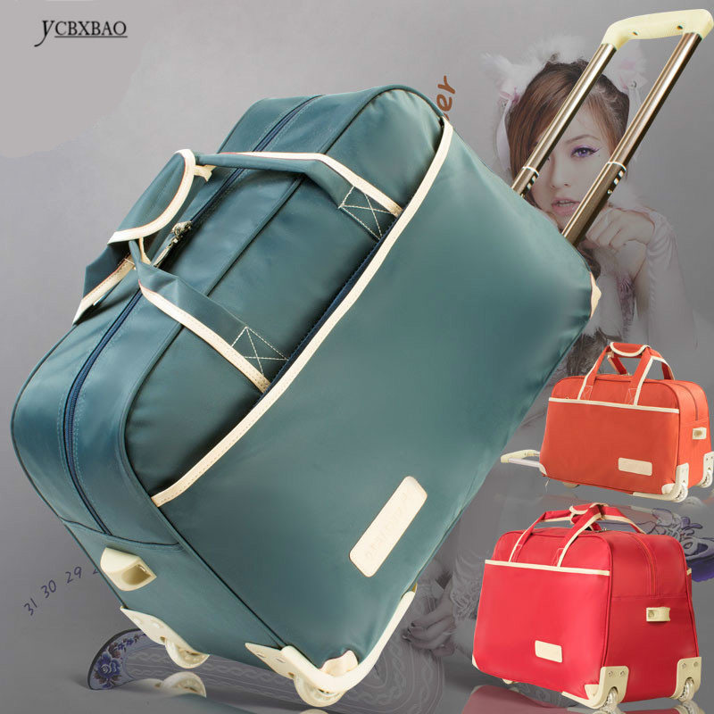 "2019 Brand Travel Trolley Luggage Bag Cabin Hand Luggage 22"" 50l 24""Inch 60l Rolling Duffle Waterproof Oxford Suitcase On Wheels"