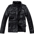 Mens Genuine Leather Jacket Fashion Brand Design Casual Biker Motorcycle Jaquetas De Couro  Dermis Leather Jacket 599