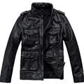 Mens Genuine Leather Jacket Fashion Brand Design Casual Biker Motorcycle Jaquetas De Couro  Dermis Leather Jacket 599