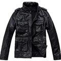 Para hombre de la Chaqueta de Cuero Genuino Diseño de Moda Marca Casual Dermis Jaquetas De Couro Motorista de La Motocicleta Chaqueta de Cuero 599