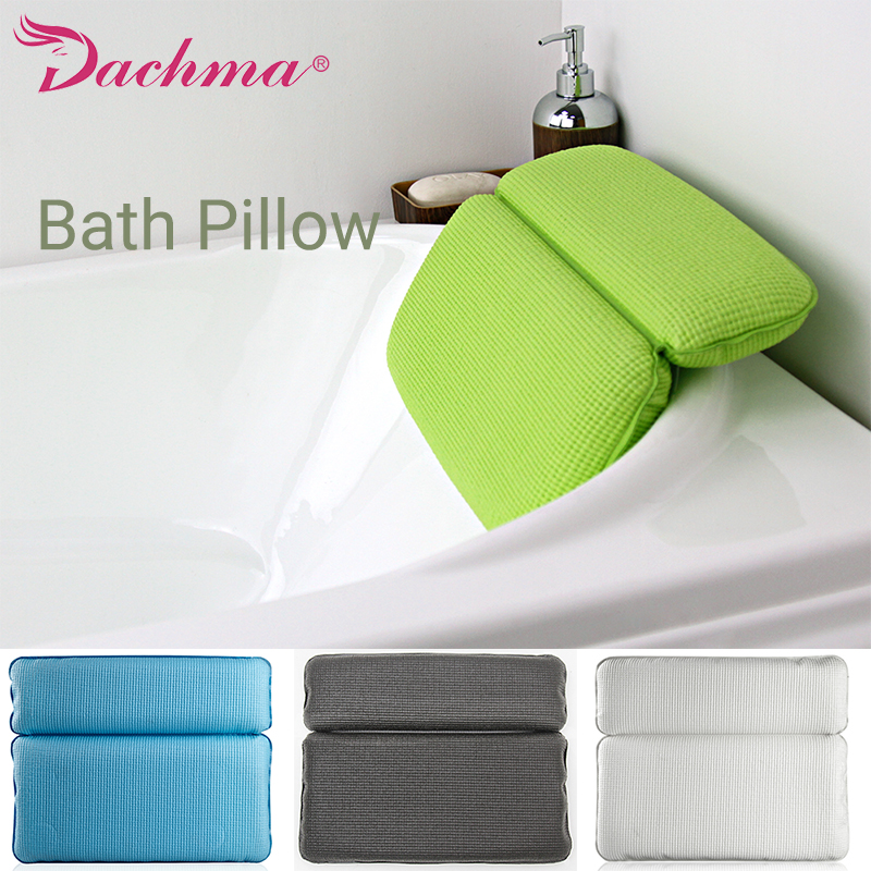 Neck Bath Pillow Spa Bath Pillows For Bathroom Bathtub Pillow for a Bath Sponge Head Cushion Tub Headrest Bathroom Accessories