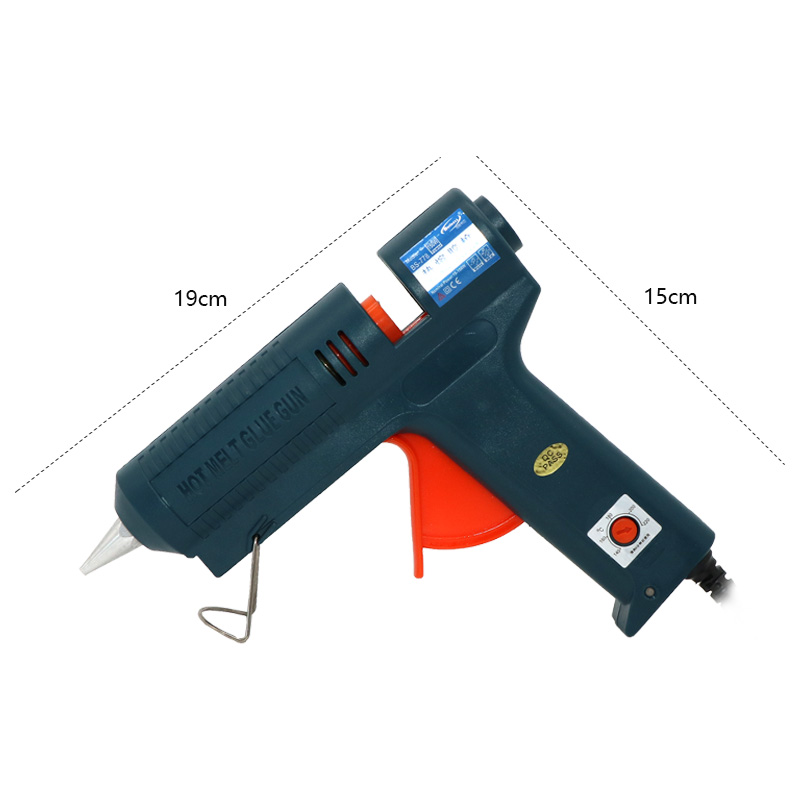 Image 5 - 150W Long Copper Nozzle Hot Melt Glue Gun Adjustable Temperature for 11mm Glue Sticks Professional Indusrial Adhesive Glue Gun-in Glue Guns from Tools on