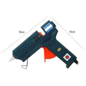 Image 5 - Boquilla de pistola de pegamento de fusión en caliente, larga de cobre de 150W, temperatura ajustable para barras de pegamento de 11mm, pistola de pegamento adhesiva industrial profesional